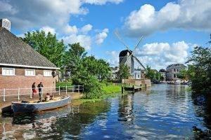 View at Molen De Put from West Gate Leiden