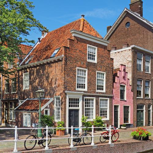 Old City Leiden Houses