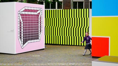 Expo De Stijl Leiden near Pieterskerk